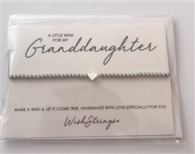 Metal Wish Strings Bracelet Grand Daughter
