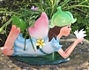 REDUCED, LIMITED TIME ONLY<p>Blue Laying Fairy with Plant Pot - Florence
