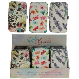 Botanical Floral Manicure Set 3 Assorted