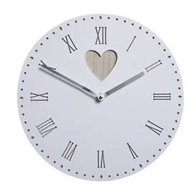 Round Wall Clock With Heart Cut Out
