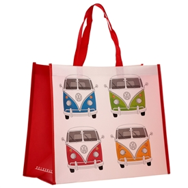 Volkswagen Red Campervan Shopping Bag