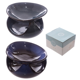 Abstract Deep Blue Oil Burner 12cm