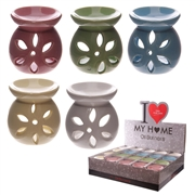l-Ceramic Petal Cutout Wax Melter / Oil Burner 7.5cm - 5 Assorted