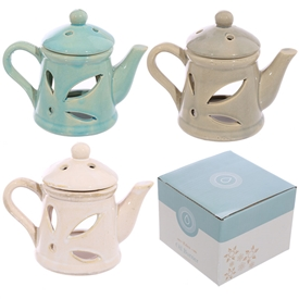 Teapot Oil Burner 3 Assorted 14cm