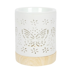 Ceramic Butterfly Cut Out Oil Burner 12cm