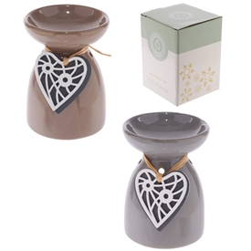 Ceramic Hanging Heart Burner 2 Assorted 11cm