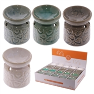 Ceramic Oil Burner With Heart Design