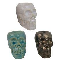 DUE OCTOBER-Skull Wax Melter / Oil Burner 3 Assorted