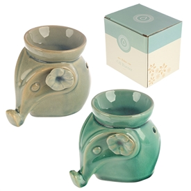 Ceramic Elephant Oil Burner 2 Asst