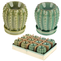 DUE NOVEMBER-Cactus Wax Melter / Oil Burner 2 Assorted
