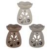 Ceramic Eden Grey and Pastel Tone Floral Oil Burner