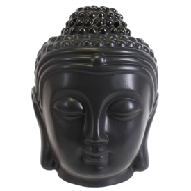 Black Buddha Head Oil Burner 14cm