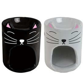 Ceramic Cat Oil Burner 2 Assorted