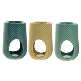 Herring Bone Oil Burner 3 Assorted 12cm
