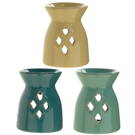 Diamond Cut Out Oil Burner 3 Assorted 7cm SOLD IN 20's