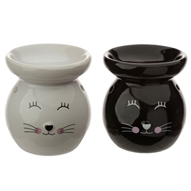 Cat Face Oil Burner 2 Assorted 10cm
