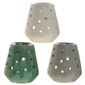 Tapered Ceramic Oil Burner 3 Assorted 11cm