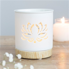 Lotus Flower Cut Out Oil Burner 12cm