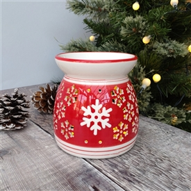 Snowflake Cutout Oil Burner