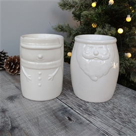 Santa/Snowman Oil Burner - 2 Assorted