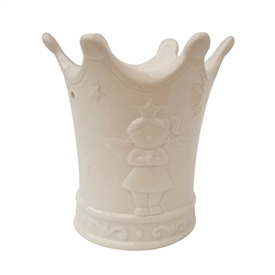 White Crown Ceramic Oil Burner