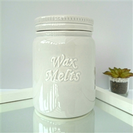 Ceramic Wax Melts Storage Jar