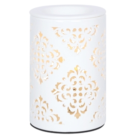 Tall Chunky Electric Oil Burner � Damask 15cm