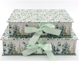 Set Of 2 Floral Box Files