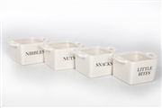 Square Snack Bowls 9x6cm - 4 Assorted