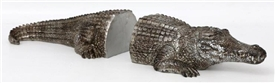 Silver Crocodile Bookends 43cm
