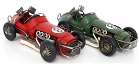 Sports Car Tin Ornament 28cm