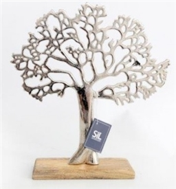 Tree On Wood Base 33cm