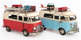 Retro Camper Tin Ornament 2 Assorted Colours 27cm
