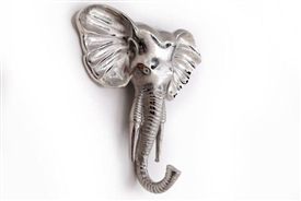 Silver Elephant Decoration Coat Hook 25cm