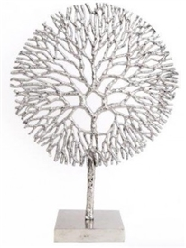 Silver Coral Decoration 51cm
