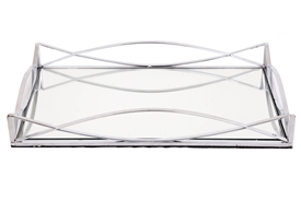 Rectangular Silver Mirror Tray 35x20cm