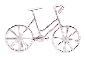 Aluminium Freestanding Bicycle Decoration 34cm