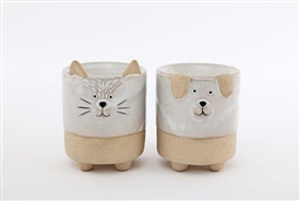 Ceramic Cat And Dog Oil/Wax Warmer 2 Assorted 10cm