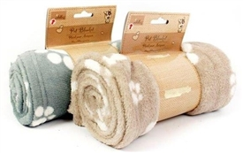 Paw And Bone Micro-Fibre Blanket 2 Assorted