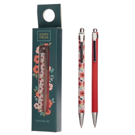 Poppy Fields Pen Set 14cm