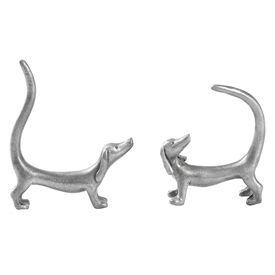 Dachshund Pewter Ring Holder 2 Assorted