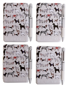 Dog Mini Notepad & Pen Set 4 Asst