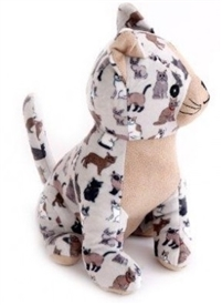 Plush Cat Doorstop 21cm