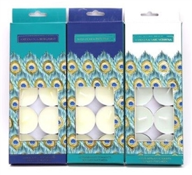 Peacock Tealights 3 Assorted