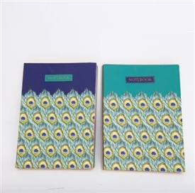 A5 Peacock Notebook 2 Assorted