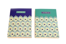 A6 Peacock Notebook 2 Assorted