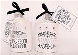 Prosecco Wax Melter / Oil Burner 2 Assorted
