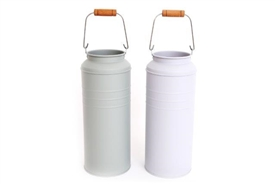 Potting Shed Metal Milk Can Planters 28cm