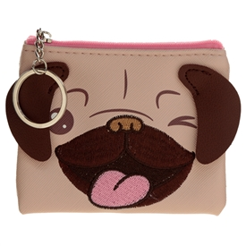 Pug Purse With Ears 10cm