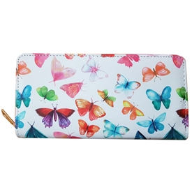 Butterfly Zip Around Purse 19cm